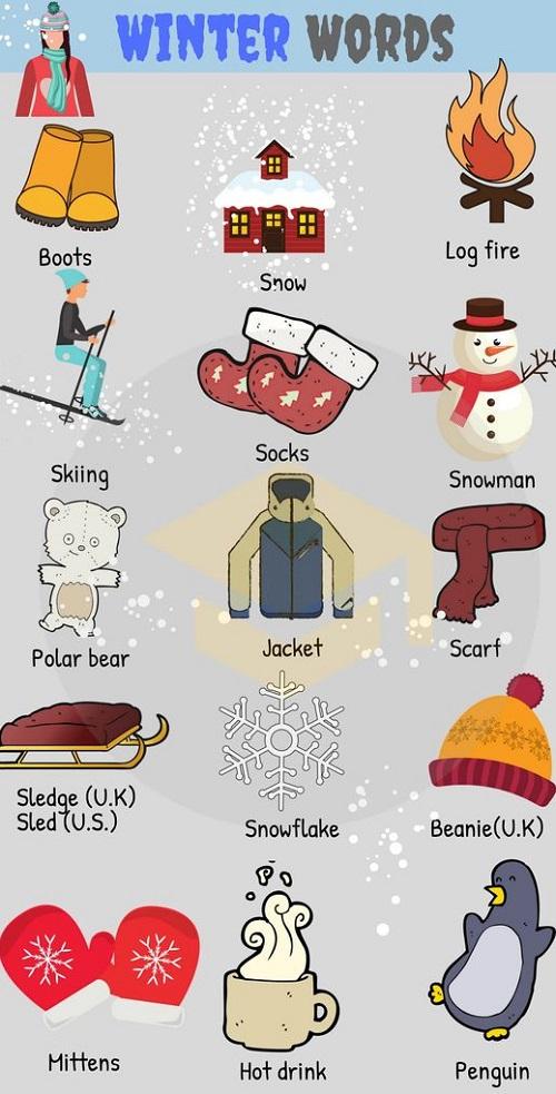Từ vựng tiếng Anh khiến bạn nghĩ ngay tới mùa đông
