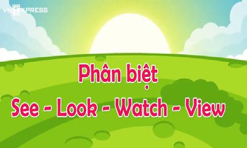 Phân biệt see, look, watch, view