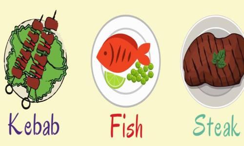 Từ vựng tiếng Anh về món ăn