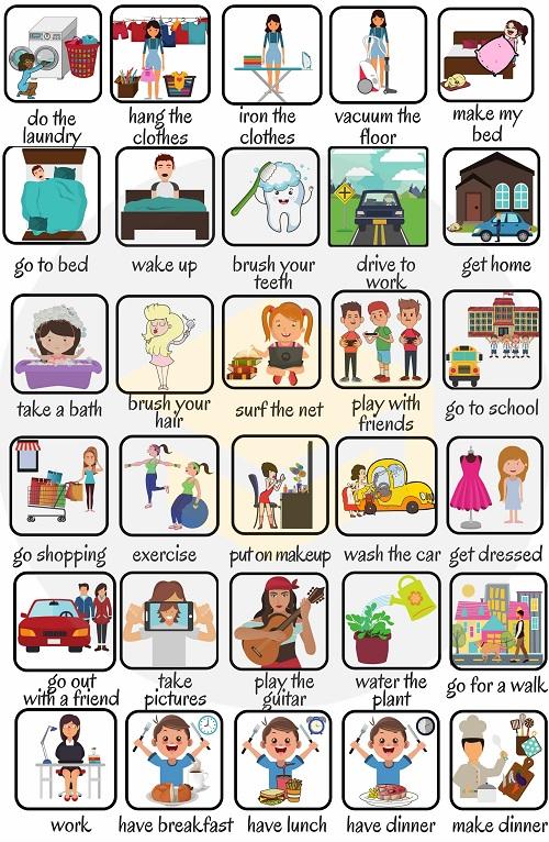 Cách diễn tả các hoạt động hàng ngày trong tiếng Anh