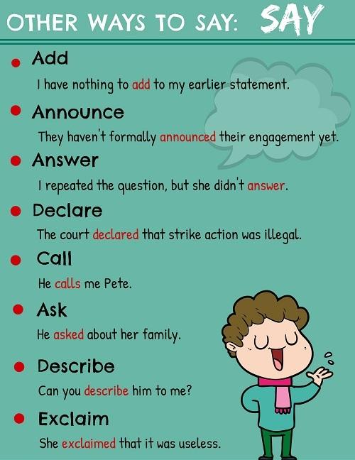 Những cách nói thay thế say