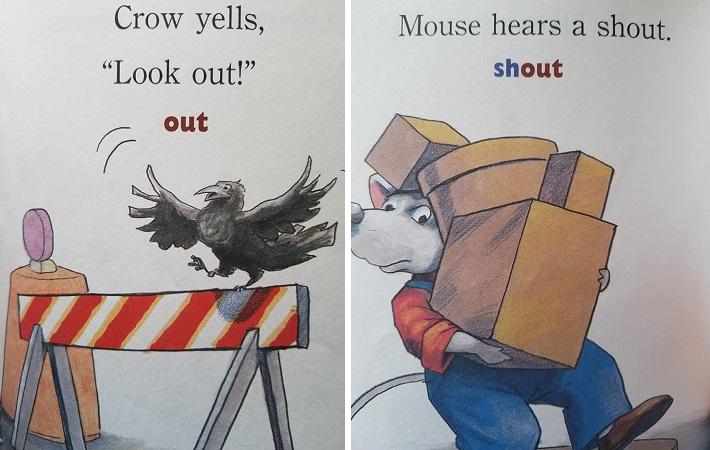 Đọc sách tiếng Anh cùng con bắt đầu từ những cuốn đơn giản. Ảnh: Quang Nguyen