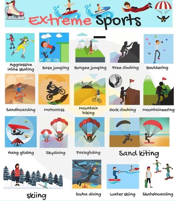 Từ vựng tiếng Anh về những môn thể thao mạo hiểm