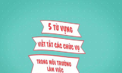 5 từ viết tắt tiếng Anh phổ biến trong công việc