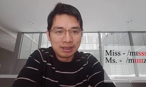 Phân biệt cách phát âm Miss, Ms. và Mrs.